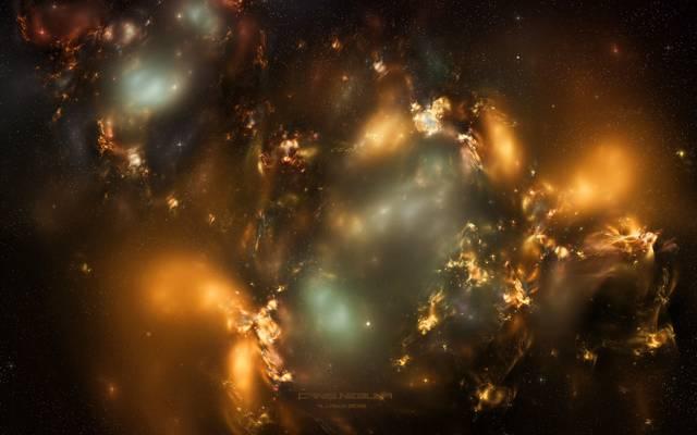 天鹅座星云,太空,光,星星,星座