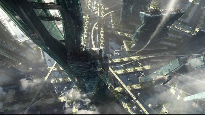 建筑,电力潜水,迷宫,城市
