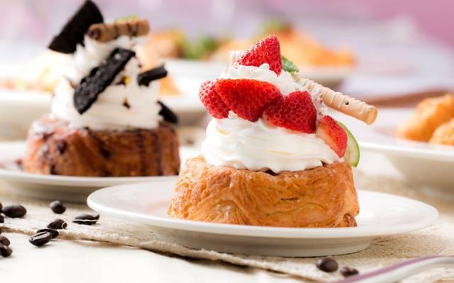 蛋糕,奶油,草莓