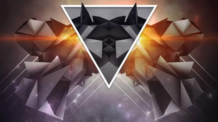 三角形,背景,壁纸,呈现,抽象
