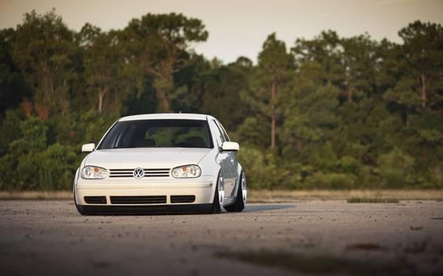 调谐汽车,高尔夫,GTI,汽车,调音车,大众高尔夫球gti,白色,汽车,汽车的墙壁,大众汽车...