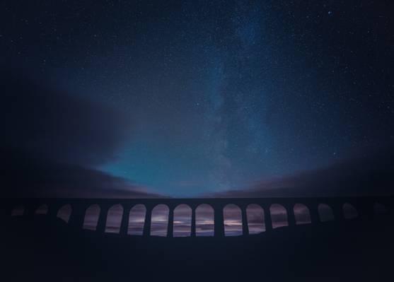 星光点点的夜晚