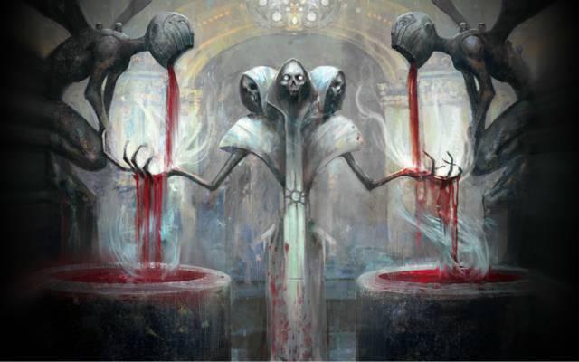万智牌,骨架,头骨,死亡,鲜血,牺牲,祭坛