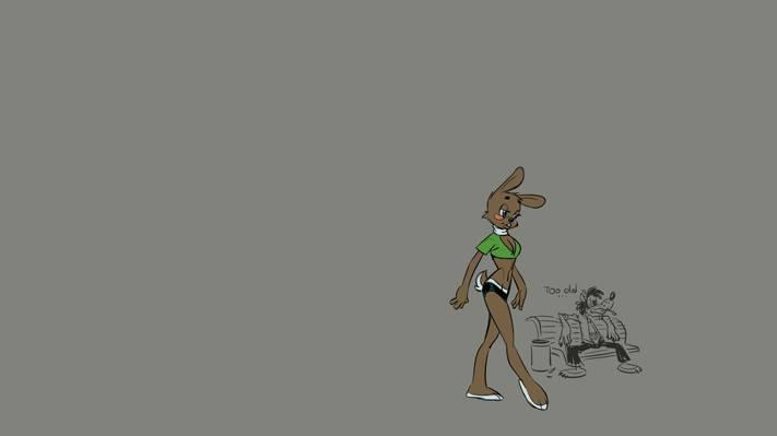 漫画,诡计,极简主义,野兔,狼,哦,等等,卡通