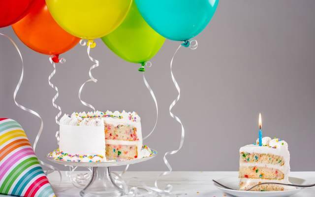 壁纸蛋糕,生日,蛋糕,蜡烛,气球,多彩,庆典,装饰,生日快乐,气球