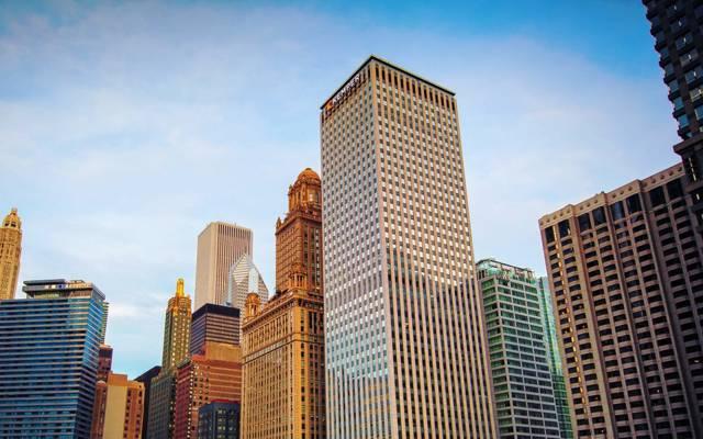 摩天大楼,美国,天空,伊利诺伊,芝加哥,摩天大楼,芝加哥,Il,美国,建筑,美国