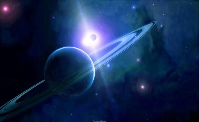 戒指,天空,星星,星球