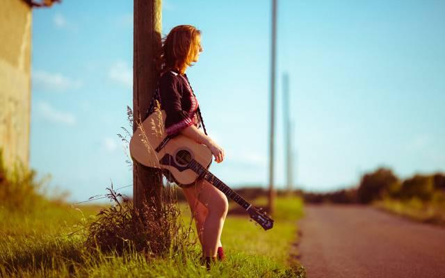 路,女孩,音乐