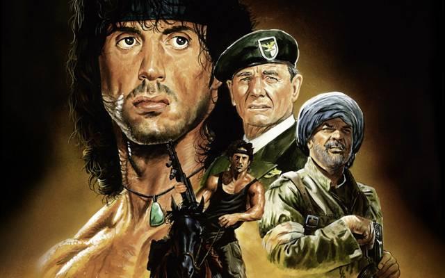 强,西尔维斯特Gardenzio史泰龙,狡猾的史泰龙,上校,第一滴血第3部分,兰博,塞缪尔特劳特曼,约翰...