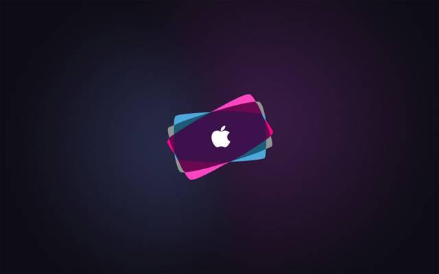 Mac,背景,丰富多彩,标志,高科技,苹果,品牌