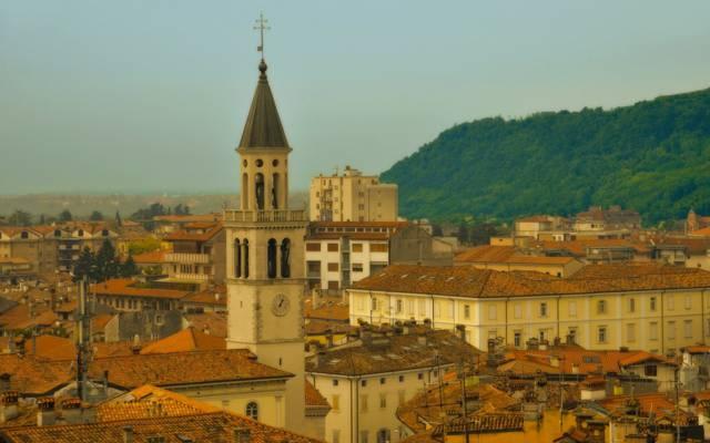 意大利,家,屋顶,戈里齐亚,弗留利 - 威尼斯朱利亚,塔,戈里齐亚,弗留利威尼斯朱利亚,建筑,意大利