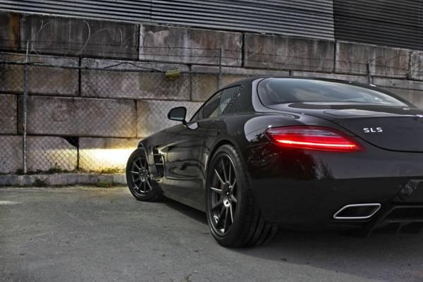 反射,车头灯,梅赛德斯 - 奔驰,安博士,后面,黑色,黑色,SLS,奔驰,sls amg