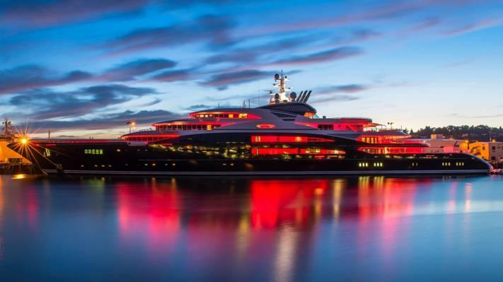 船,游艇,宁静,134米,巨型游艇,套房