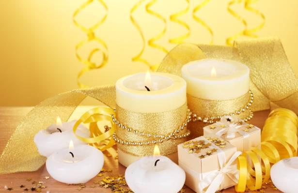 星星,礼物,节日,蜡烛,蛇纹石,黄金,磁带