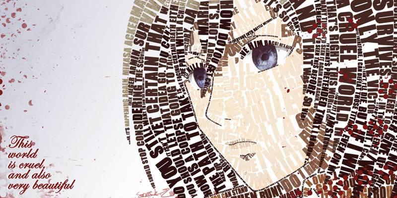 标签,看,女孩,Mikasa阿克曼,脸,动漫