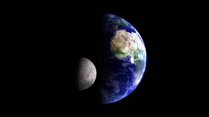 星球,地球,月球,卫星,太空