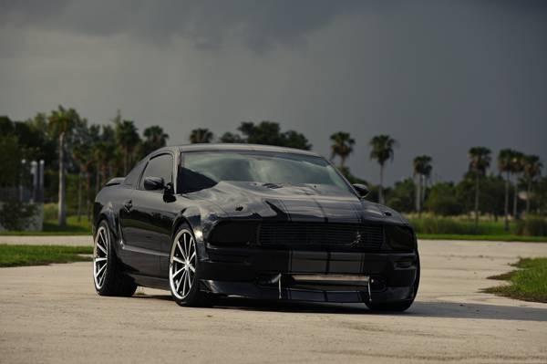 云,前视图,福特,驱动器,野马,野马,黑色,黑色,福特,天空,有色