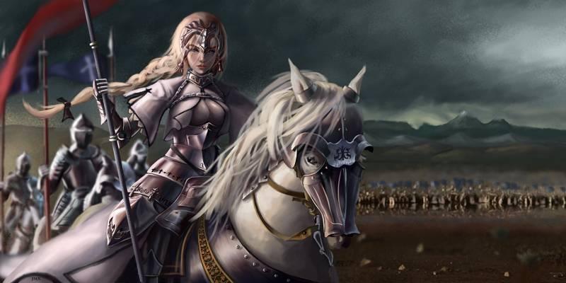 女孩,艺术,战士,命运/大秩序,命运/大运动,马,动漫