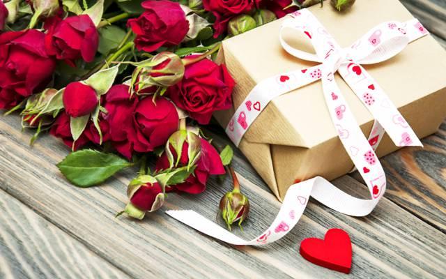 鲜花,礼物,情人节,浪漫,爱,玫瑰,浪漫,弓
