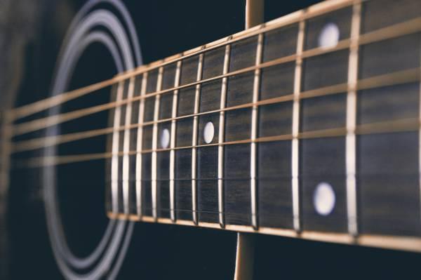 黑色的声学吉他宏摄影高清壁纸