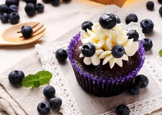 浆果,蛋糕,蛋糕,甜点,奶油,甜,蓝莓