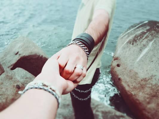 夫妇,手,爱,人们,高清壁纸