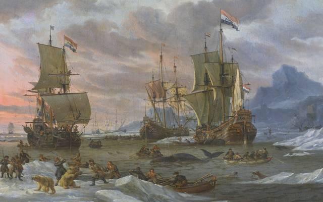 帆,图片,亚伯拉罕·斯托克,油,船,捕鲸,帆布