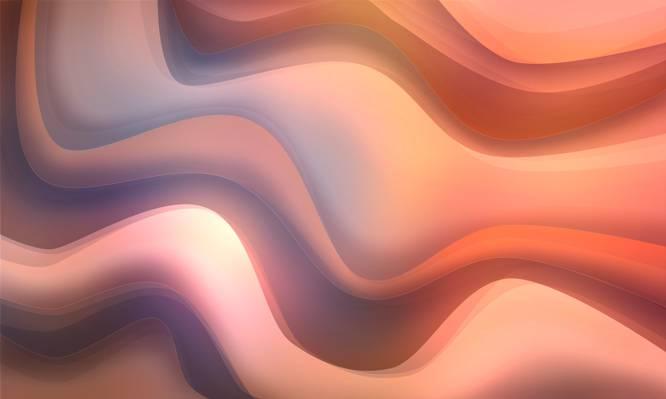 波,美丽,温柔,背景,抽象