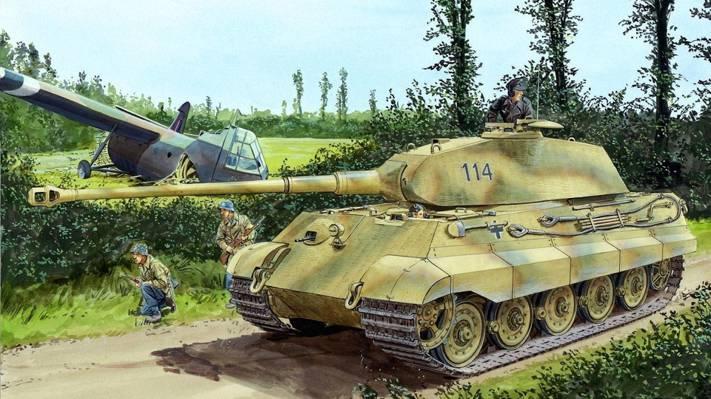 士兵,虎王,德国人,人物,Panzerkampfwagen VI Ausf。