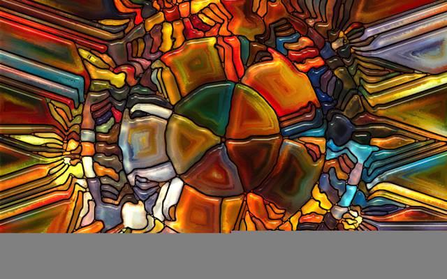 图案,玻璃,多彩,彩色玻璃