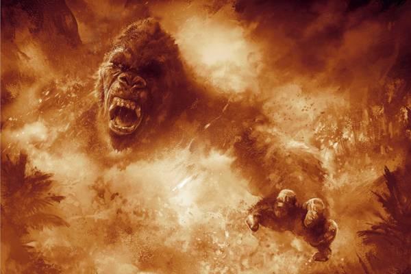 大猩猩,电影,强,火,孔,孔:骷髅岛,动物,愤怒,火焰,电影,芳,火花,生气,...