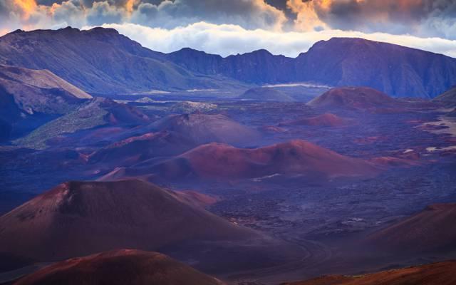 夏威夷,哈雷阿卡拉是毛伊岛,山脉,大自然