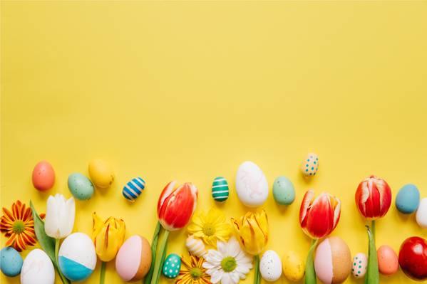 复活节的缤纷彩蛋
