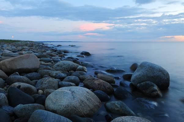 在早晨桌高清壁纸下的海洋