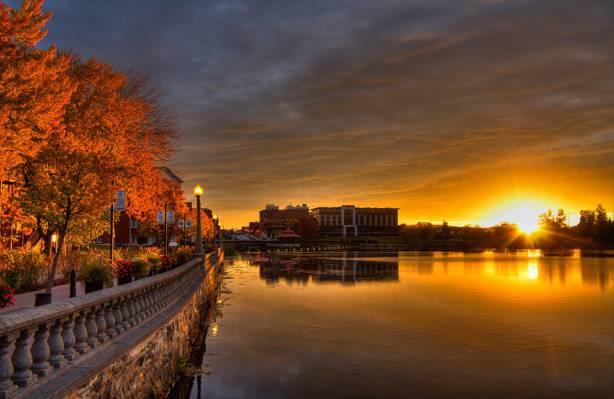 波士顿,美国波士顿,城市,水,海洋,建筑,海滨长廊,城市壁纸,港口高清