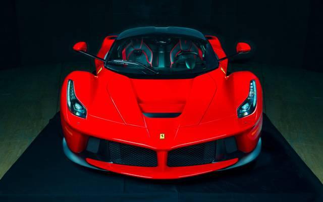 颜色,电源,红色,法拉利,热,超级跑车,LaFerrari,前