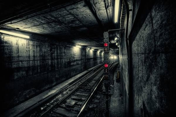 地铁,轻轨,隧道,火车,城市,地铁