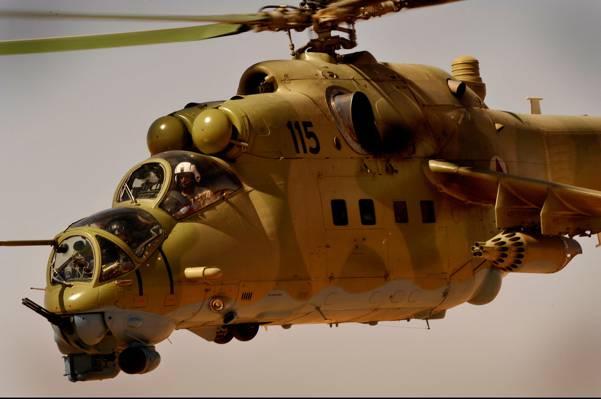 直升机,冲击,机舱,Mi-35