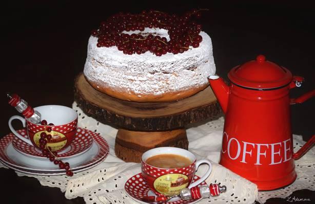 葡萄干,蛋糕,静物,咖啡,甜点