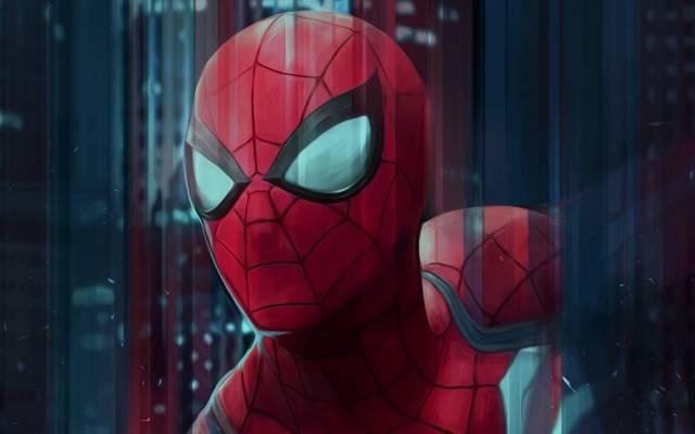 红色,艺术,超级英雄,蜘蛛侠,彼得·派克,图,蜘蛛侠,服装