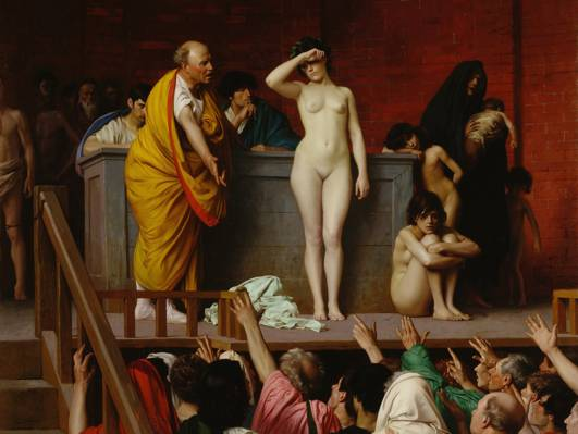 卖奴隶女孩,让 - 利昂Gerome,图片,色情,流派
