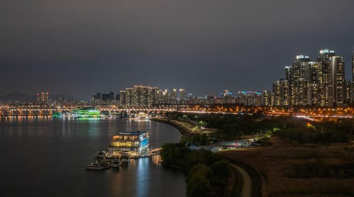 韩国汉城的唯美夜景