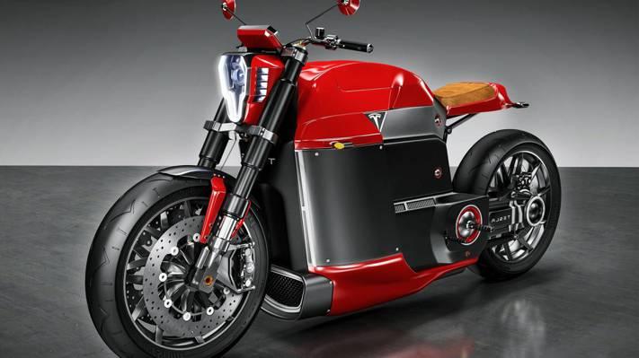 美丽,电动摩托车,特斯拉,车轮上的美,壁纸,4K,粗线,电动机,技术,特斯拉...