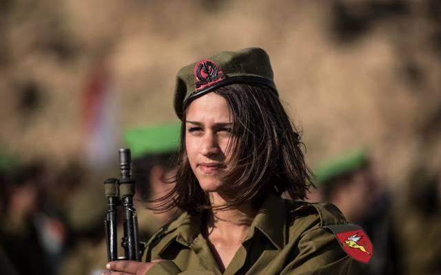 武器,以色列国防军,女孩,士兵