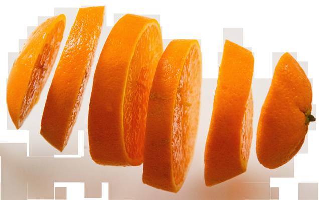 切片的橙色高清壁纸