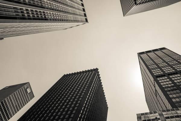 摩天大楼高清壁纸的地面照片