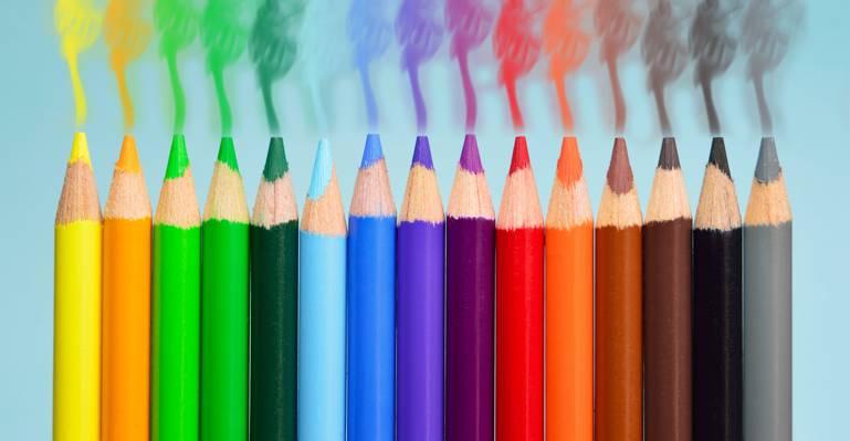 彩色铅笔地段高清壁纸