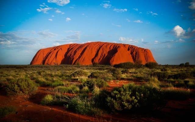 岩石,乌鲁鲁山,澳大利亚艾尔斯岩