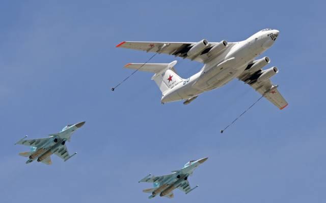 伊尔-78,轰炸机,飞行,油罐机,苏-34,战斗机