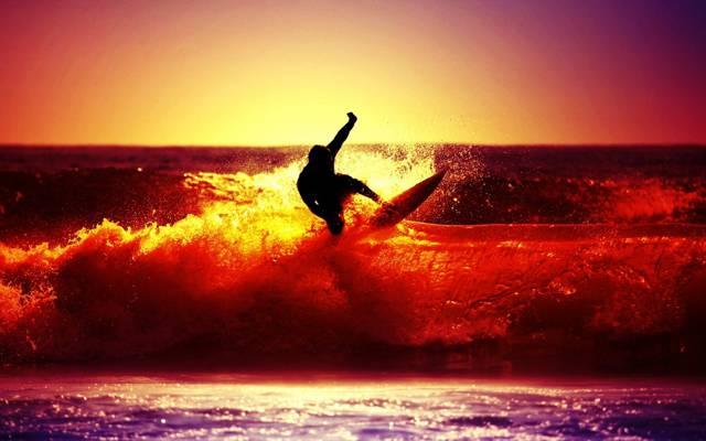人,运动,壁纸,喷,海,波,男,太阳,冲浪,河,心情,背景,人,剪影,...